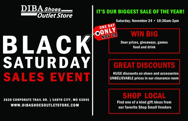 Diba Shoes Outlet Store Black Saturday Sale 2018 11/24/18